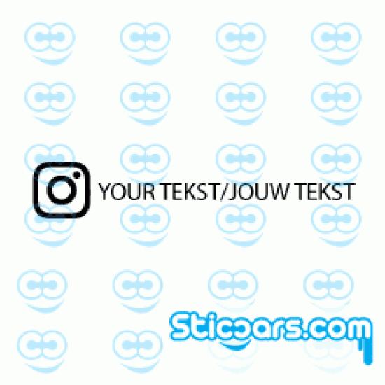 3983 Instagram met Eigen Tekst sticker