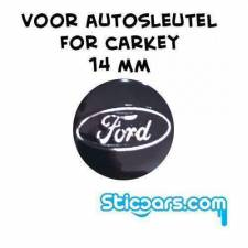 Aluminium 14mm Ford sleutelsticker