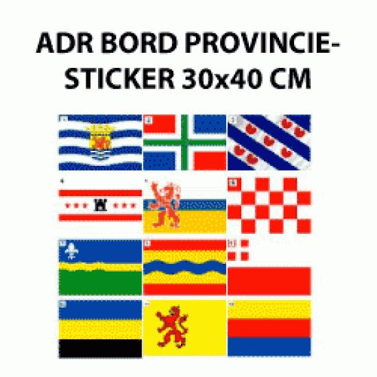ADR-bord provinciesticker 30x40 cm