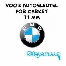 Aluminium 11mm BMW sleutelsticker