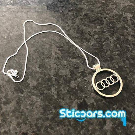Audi logo met zilveren kettinkje 4