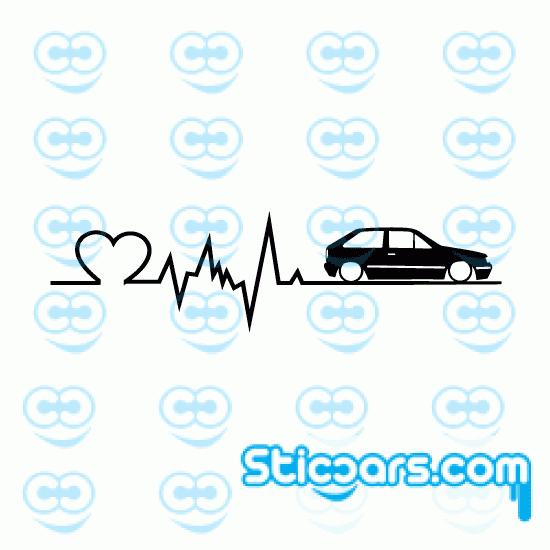 4231 VW polo coupe heartbeat