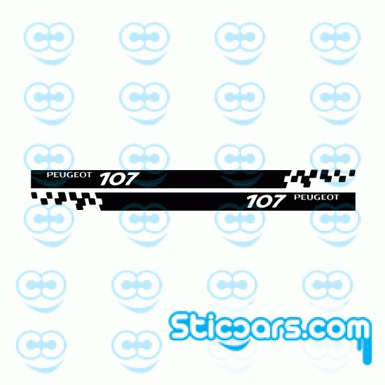 4271 peugeot 107 striping 180 cm