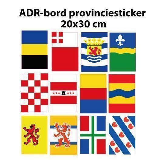ADR-bord provinciesticker 20x30cm