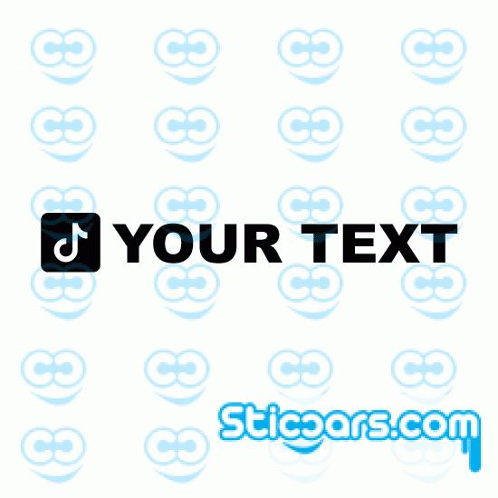 4284 TikTok met Eigen Tekst sticker