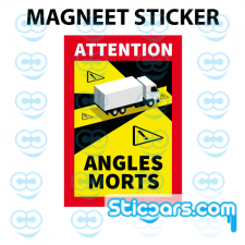 4310 Magneetsticker Attention Angles Morts 17x25 cm