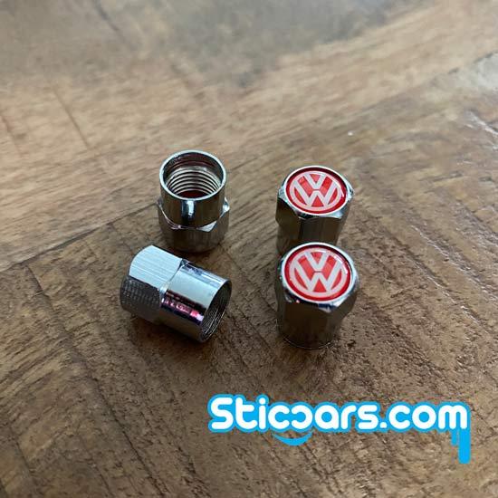 Volkswagen VW Ventieldopjes rood