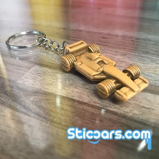 f1 racewagen sleutelhanger hout