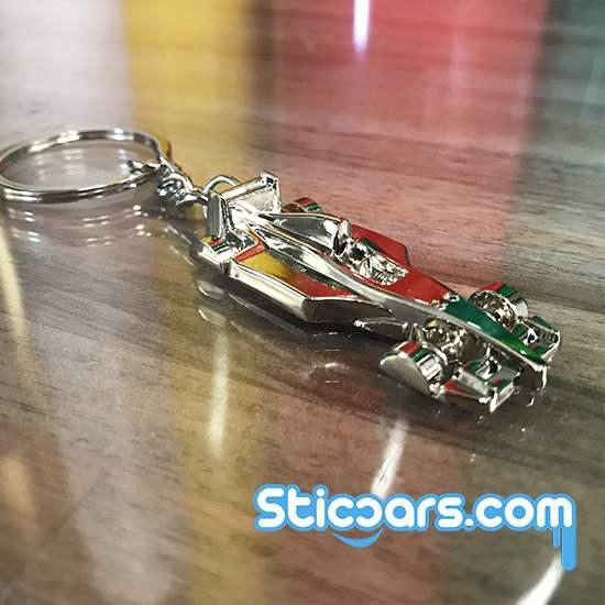 f1 racewagen sleutelhanger