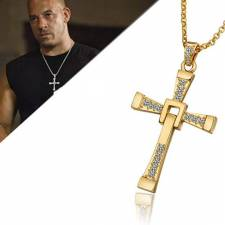 89 Vin Diesel ketting en kruis Fast and the Furious goud