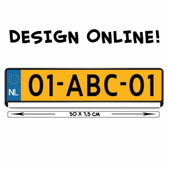 online design kentekensticker