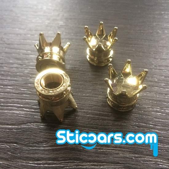 Kroon Crown Ventieldopjes goud