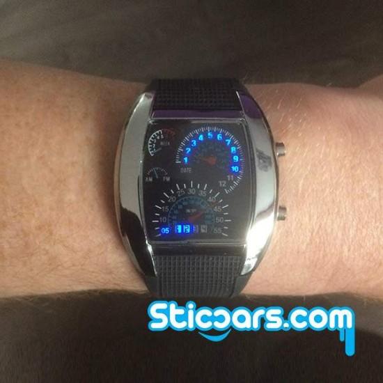 Led horloge snelheidsmeters