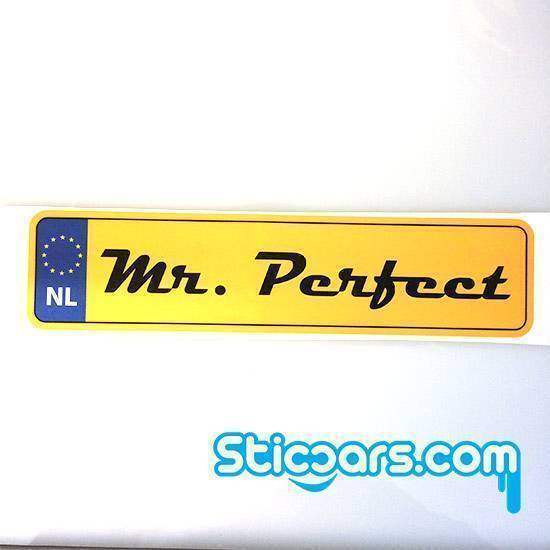 Statische sticker Mr. Perfect 25 x 6 cm