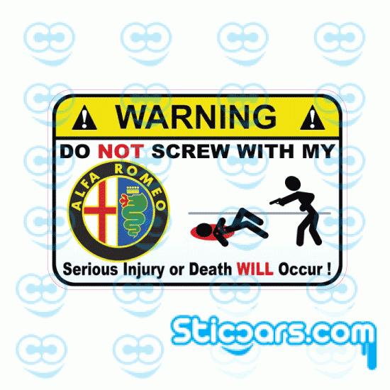 3710 Warning Alfa Romeo 10 cm