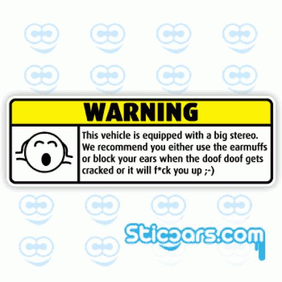 1547 Warning Big Stereo 10 cm