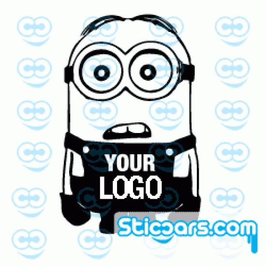 1767 Minion met je logo