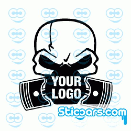 2017 Skull en zuigers met je auto logo