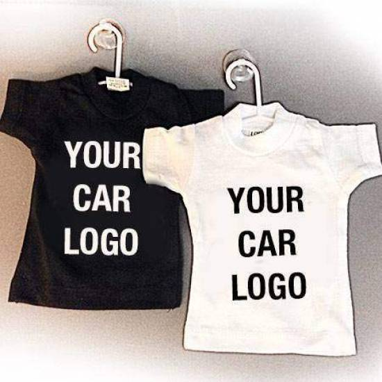 Mini T-shirt inclusief zuignap met je auto logo