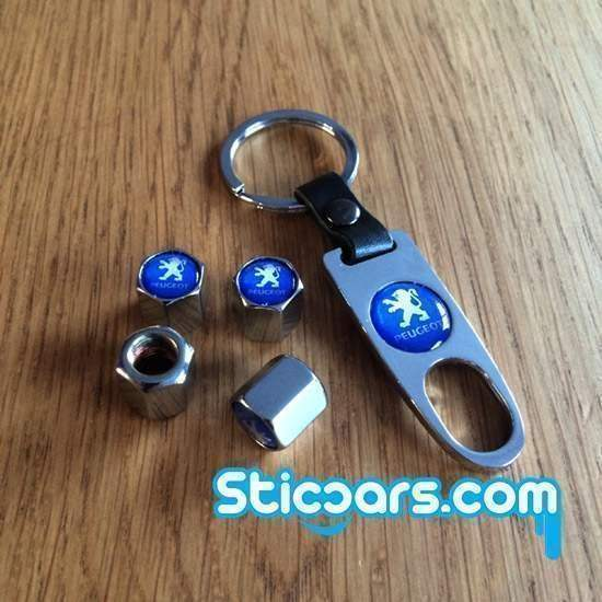 Peugeot Ventieldopjes met sleutelhanger nr9