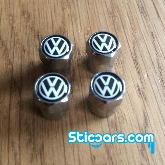 Volkswagen VW Ventieldopjes zwart nr106