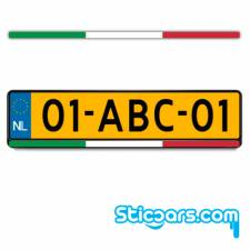 3531 italiaanse kentekenplaatsticker 15 x 500 mm