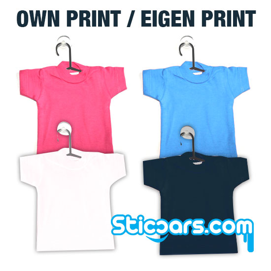 Eigen ontwerp Mini T-shirt inclusief zuignap