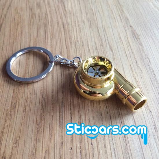 103 turbo sleutelhanger met fluit goud. Black Bedroom Furniture Sets. Home Design Ideas